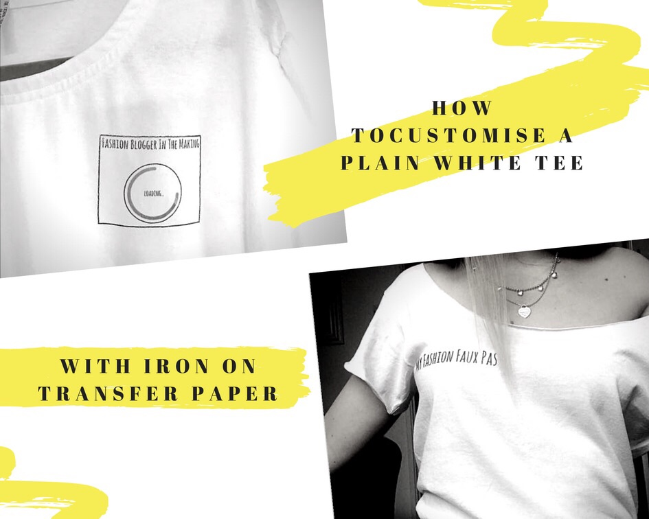 How to customise a plain tee with iron on transfer paper